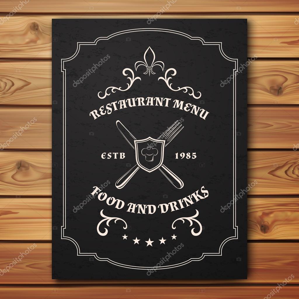 Vintage plantilla de menú de restaurante o cafetería — Vector de ...