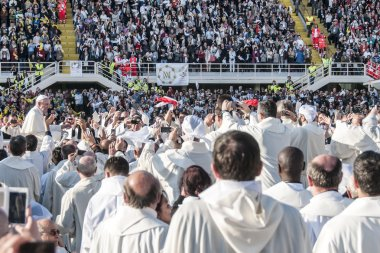 Holy mass with Pope Francis
