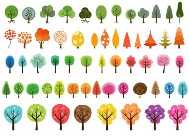 Various set of vector trees