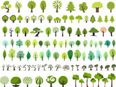 Photo Vector file of many style trees