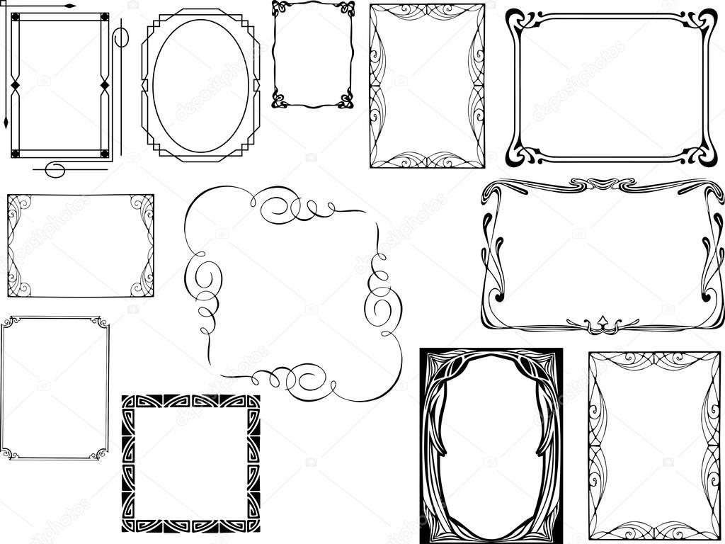 Art Deco Frames Stock Vector Morrmota 67421177