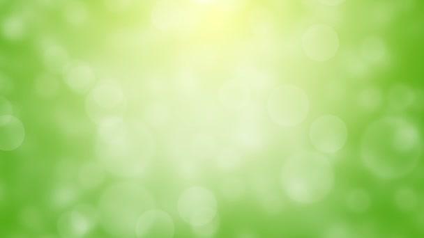 zelené bokeh animace