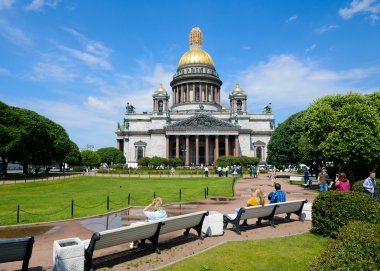 View of Saint Isaac's cathedral