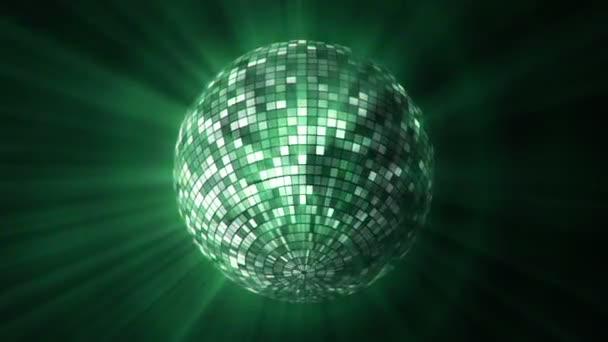 Disco zrcadlo koule rotující a odráží světlo