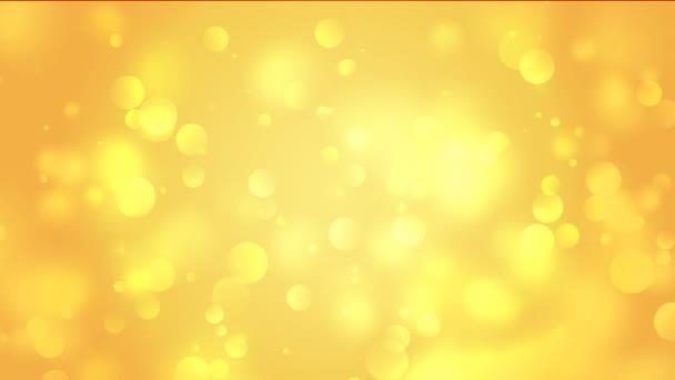 Arany bokeh animáció