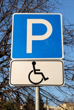 Parking place for drivers with disabilities