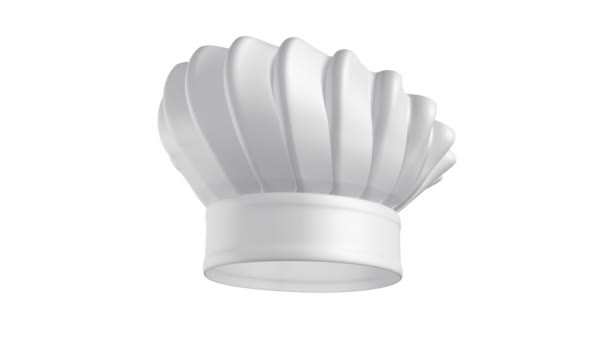 Kuchař klobouk na bílém pozadí