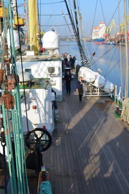 Kruzenshtern ex Padua, in the Fishing port. Kaliningrad