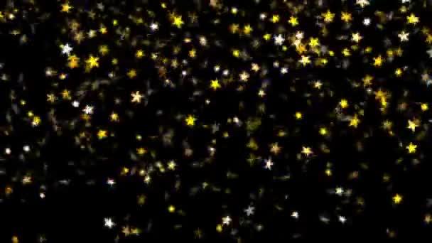 Padající zlaté hvězdy