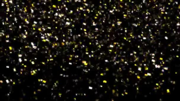 Gold confetti falling