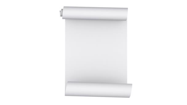 Scroll-Animation aus weißem Papier