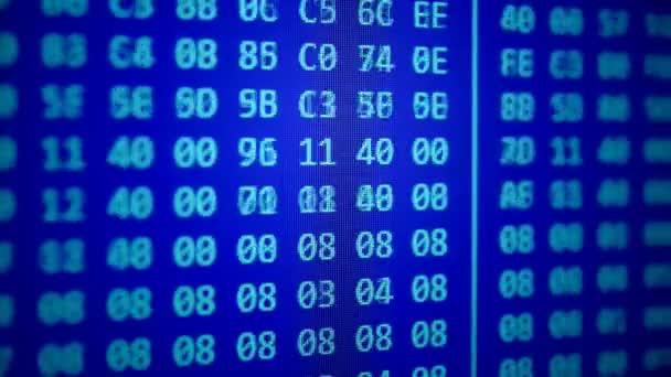 hexadecimální program kód posouvání