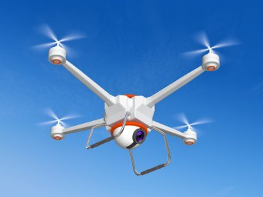 Quadrocopter with the camera
