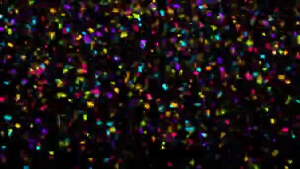 Padající barevné konfety