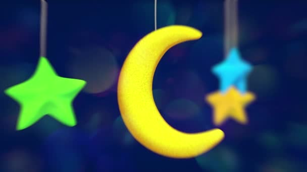 Toy moon and stars