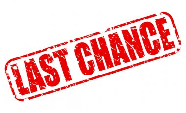 Last chance red stamp text