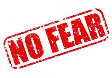 No fear red stamp text