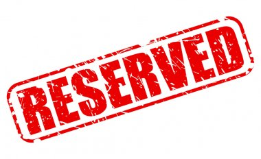 Reserved red stamp text
