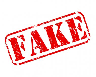 Fake red stamp text