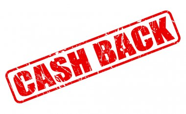 Cash back red stamp text
