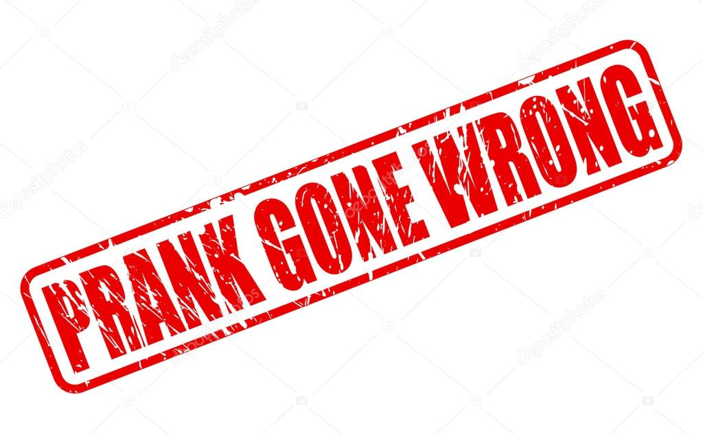 Prank gone wrong red stamp text — Stock Vector © pockygallery #59505237