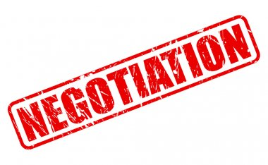 Negotiation red stamp text