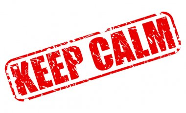 Keep calm red stamp text