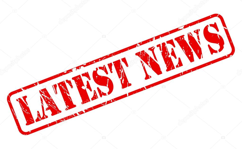 Latest news red stamp text