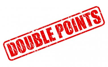 Double points red stamp text