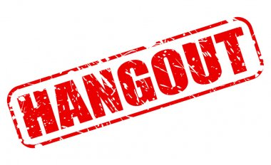 Hangout red stamp text