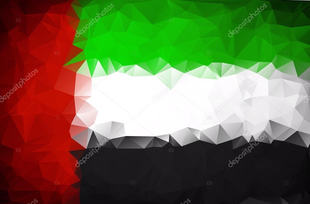 Abstract UAE flag polygon