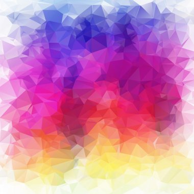 Abstract triangle spectrum colors texture