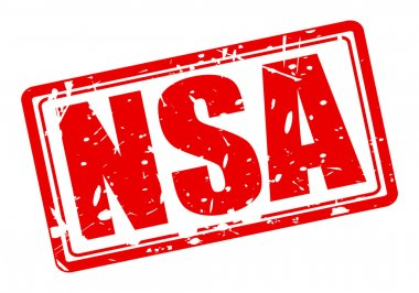 NSA red stamp text