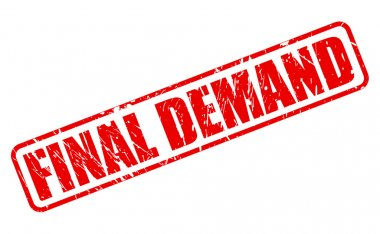 Final demand red stamp text