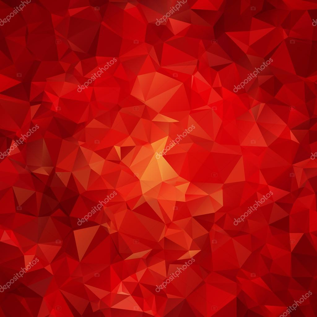 Red abstract polygon pattern