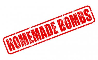 Home Made Bombs red stamp text