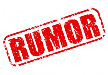 RUMOR red stamp text