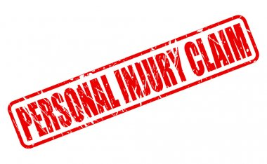 PERSONAL INJURY CLAIM red stamp text