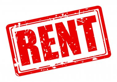 RENT red stamp text
