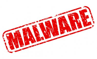 MALWARE red stamp text
