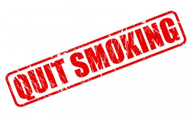 QUIT SMOKING red stamp text