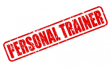 PERSONAL TRAINER red stamp text