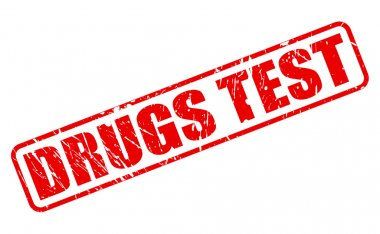 DRUGS TEST red stamp text