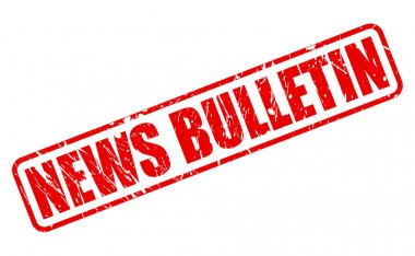 NEWS BULLETIN red stamp text