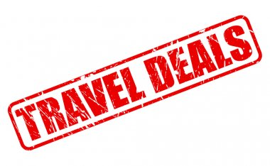 TRAVEL DEALS red stamp text