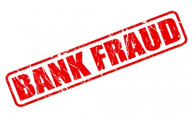 BANK FRAUD red stamp text