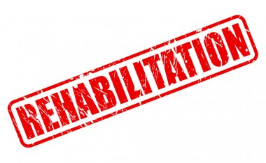 REHABILITATION red stamp text