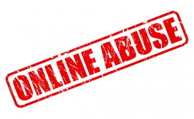 ONLINE ABUSE red stamp text