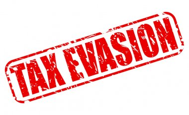 TAX EVASION red stamp text