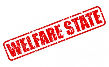 WELFARE STATE red stamp text